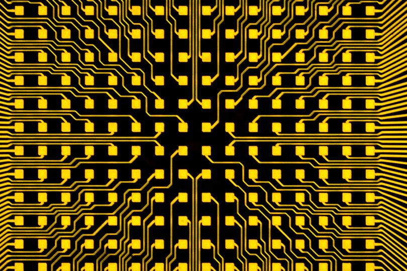 Mikrochip mit 16 mal 16 µLEDs