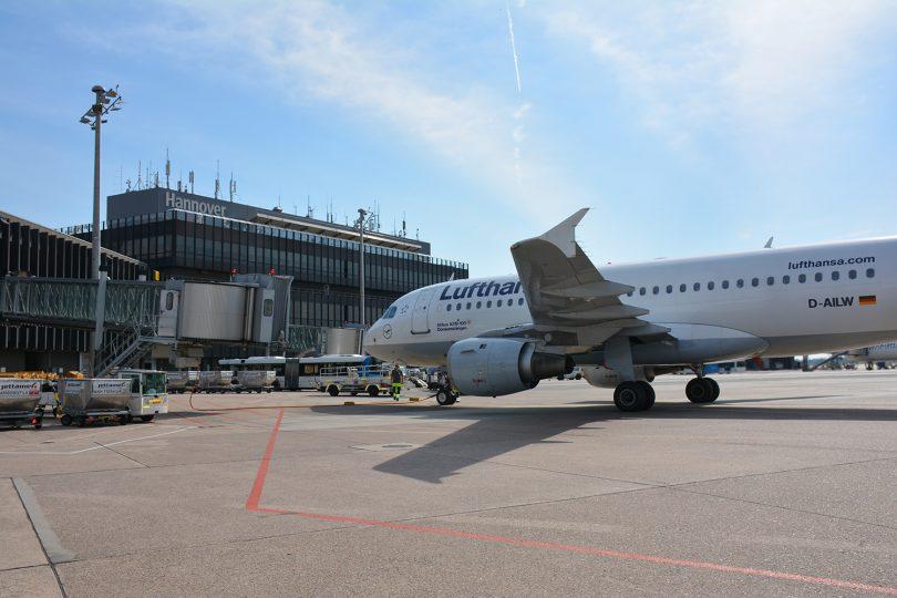 Vorfeld eines Flughafens. Bildnachweis: Hannover Airport