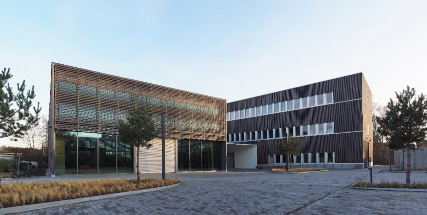 Frontansicht des ZELUBA-Neubaus