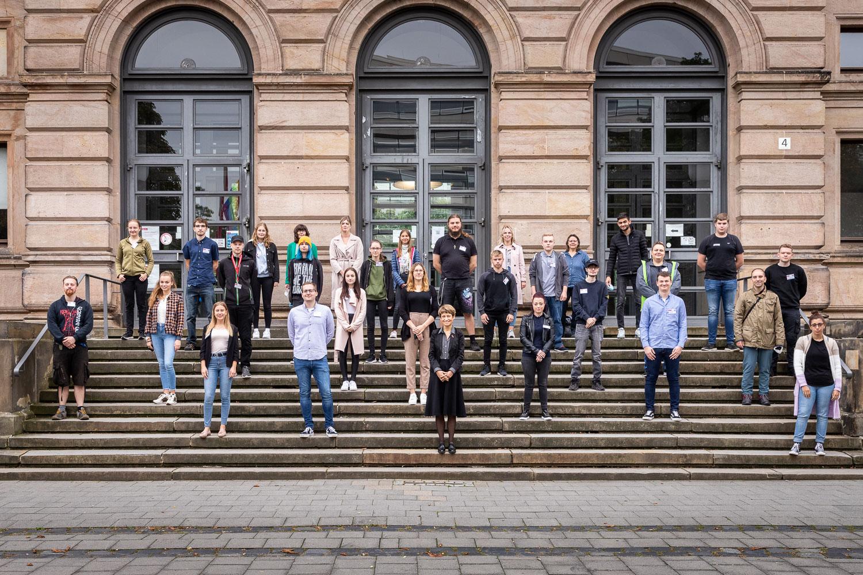 Präsidentin Prof. Angela Ittel begrüßte am 1. September die neuen Auszubildenden an der TU Braunschweig. Bildnachweis: Markus Hörster/TU Braunschweig